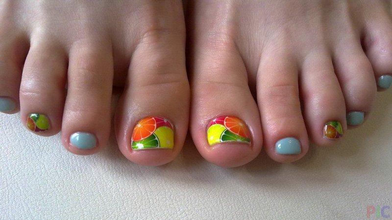 Фруктовое разнообразие на ногтях