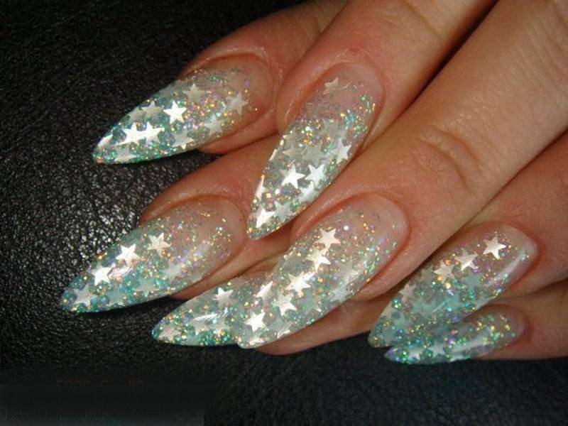 Дизайн ногтей блестки фото