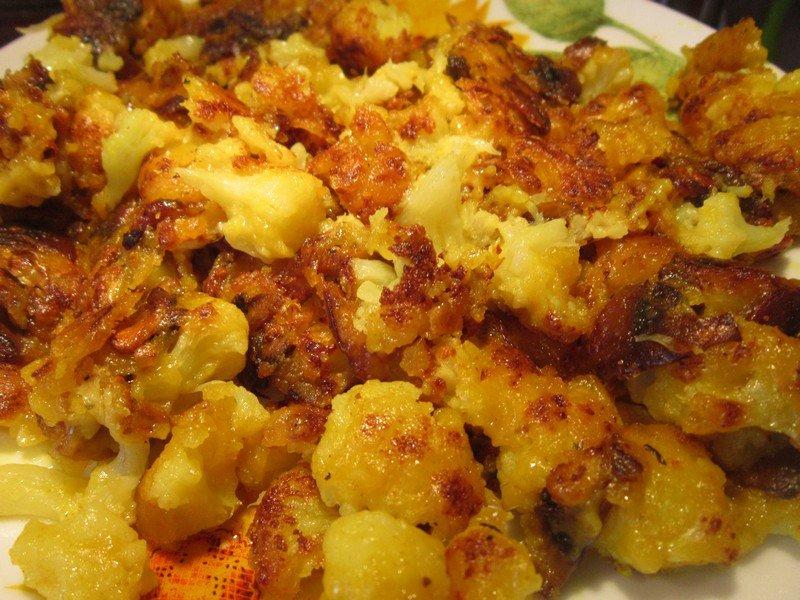 Рецепт цветной капусты жареной