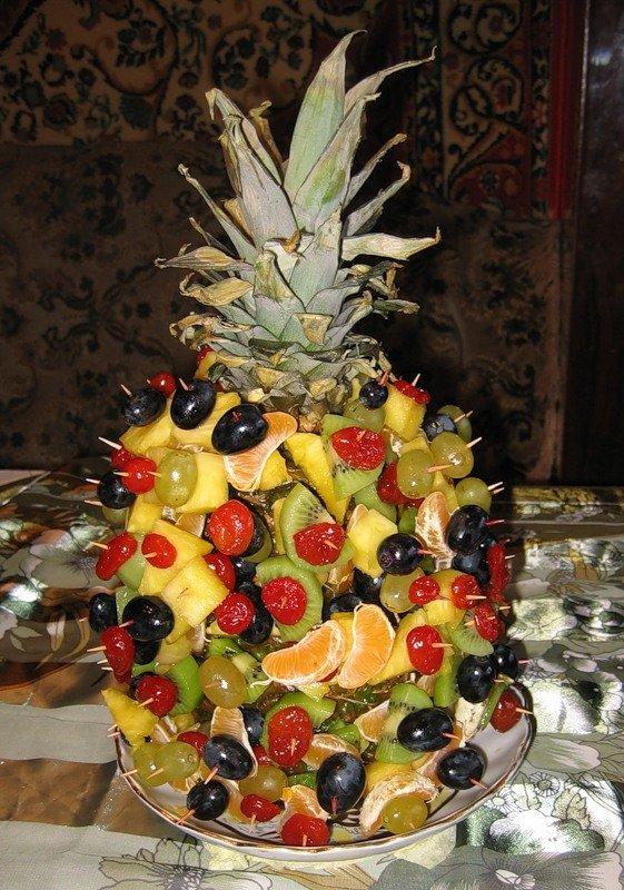 сегодня оформление ягодами ананаса фото основном строились дома