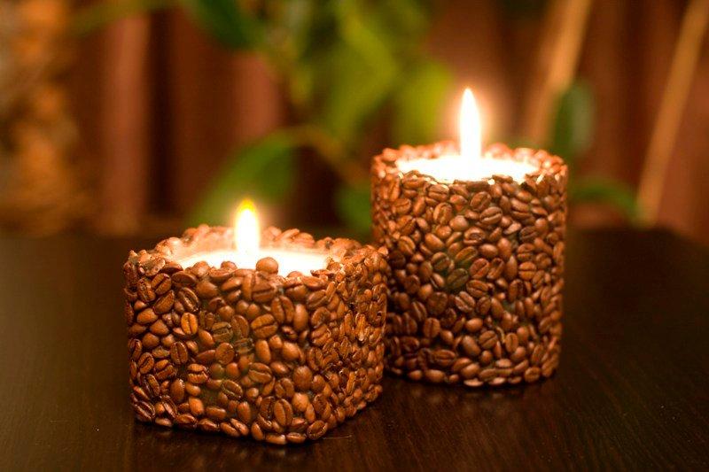 Свечи своими руками с кофе