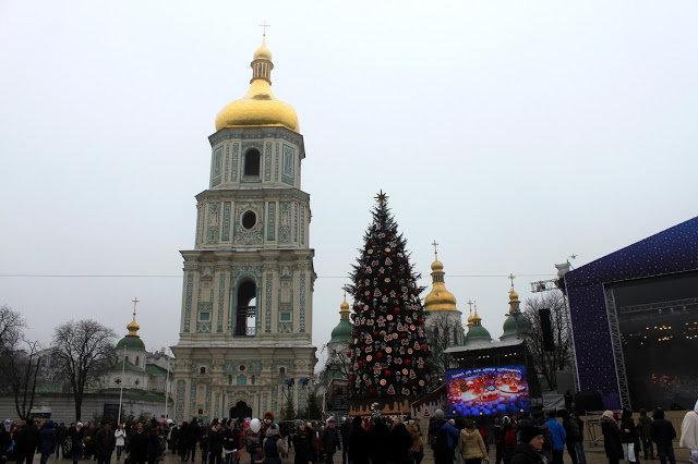 Главная ёлка Киева 2016 на Софиевской площади