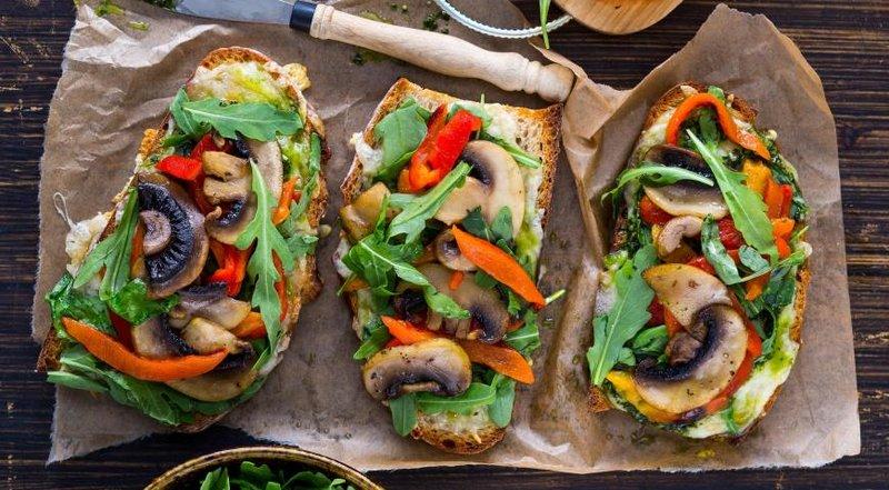Закуски бутерброды с грибами рецепты фото