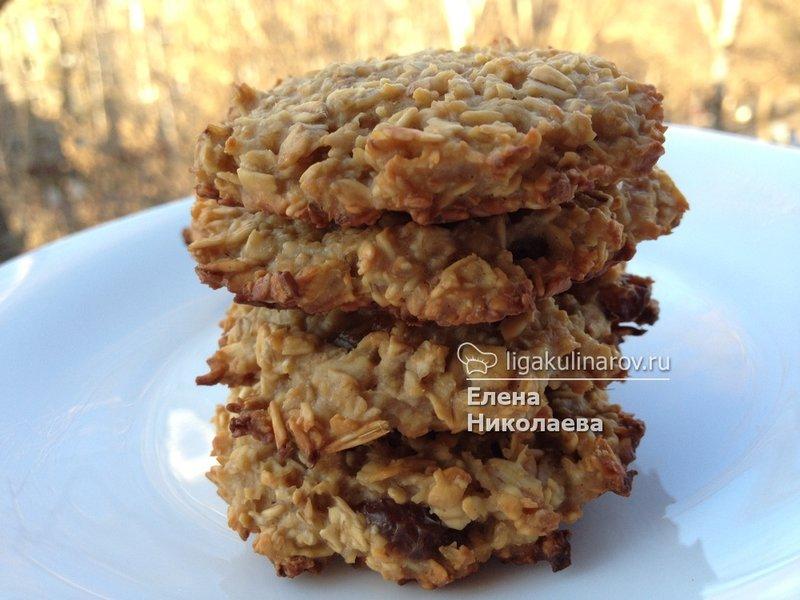 Низкокалорийное овсяное печенье рецепт с фото