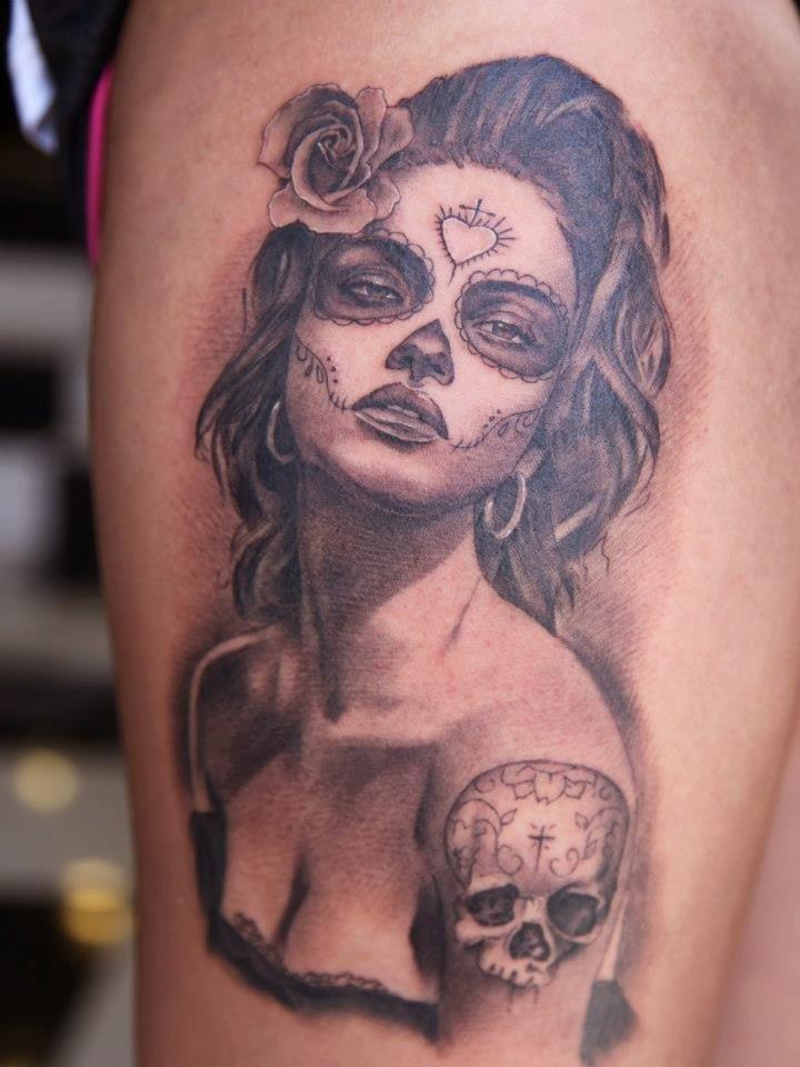 Sugar Skull Tattoos For Men - YouTube