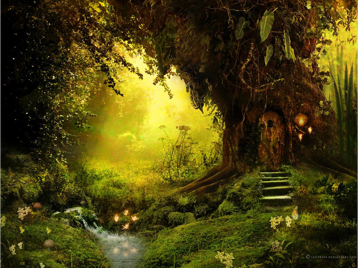Сказочный лес картинки для фотошопа, маме