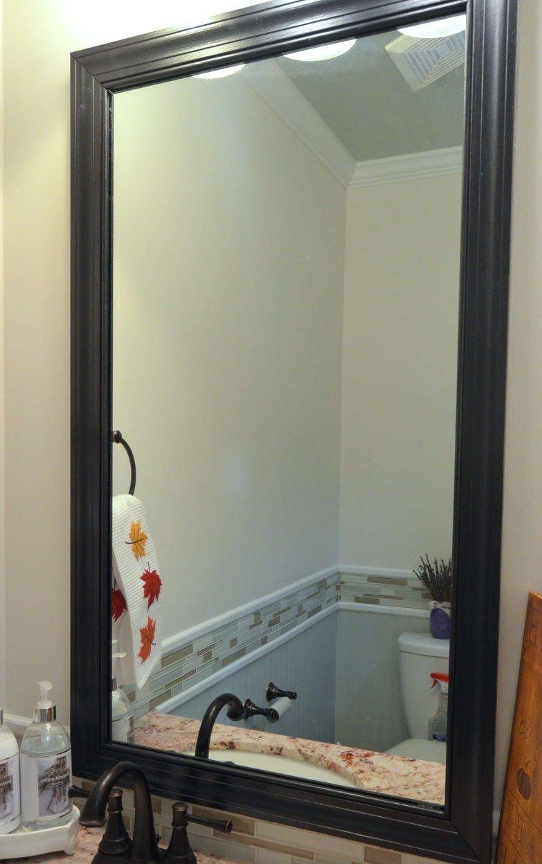 Рамка для зеркало из потолочного плинтуса своими руками 92