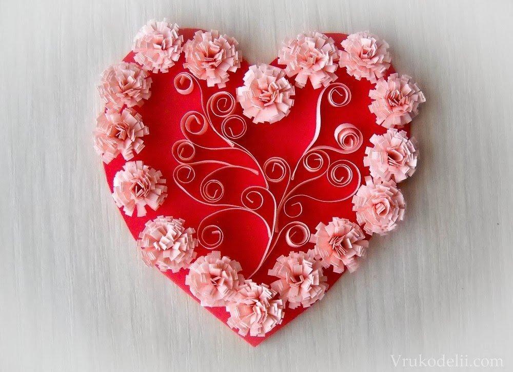 Открытки в виде сердца на день матери