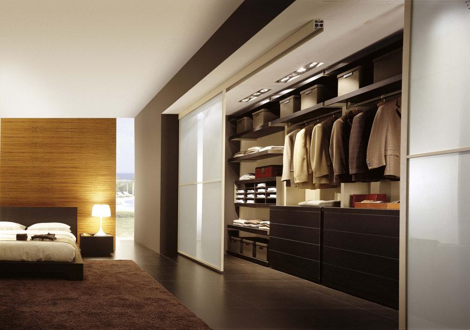 Дизайн спальни с гардеробной, оформление, фото и видео все о.