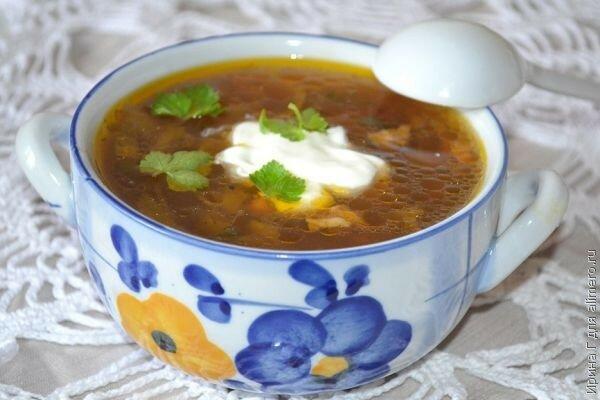 Грибной суп с копченой грудинкой