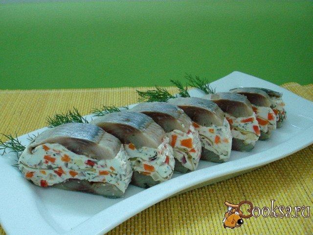 холодные закуски из сельди фото