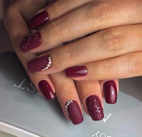 роспись гель лаком на ногтях фото