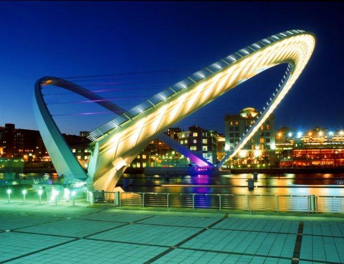 Англия, Ньюкасл: мост Миллениум