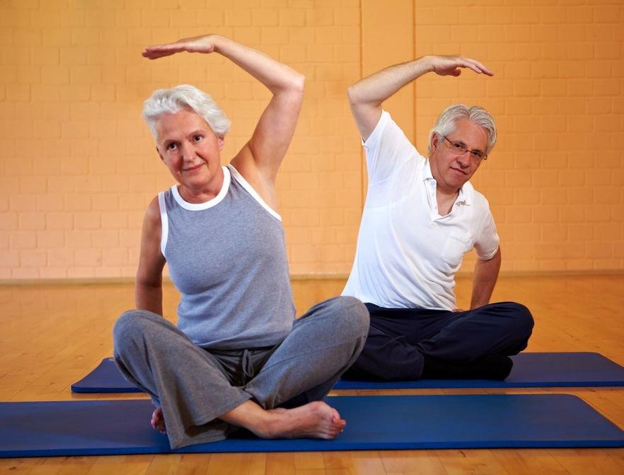 Йога для пожилых при остеохондрозе