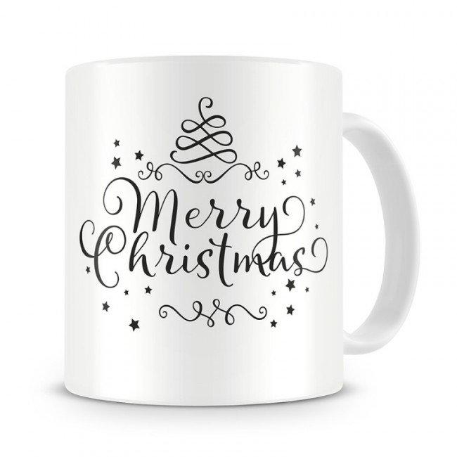 Кружка Merry Christmas – это классическая керамическая кружка с новогодним настроением. Белая кружка украшена милой надписью – пожеланием счастливого рождества. Отличный подарок на новый год или рождество для любого человека.