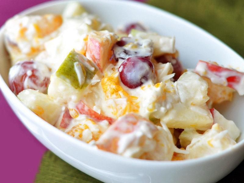 Фруктовый салат с черносливом - Фруктовые салаты - Рецепты - Вкусные рецепты на каждый день