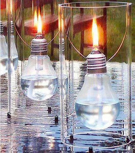 Лампочка-светильник. Повторное использование лампочек, лампочки в дизайне