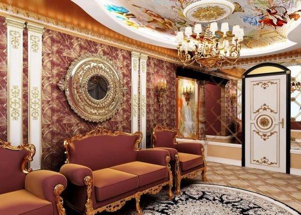 Шоколадная мебель в гостиной