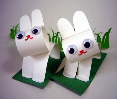 Зайцы из бумаги