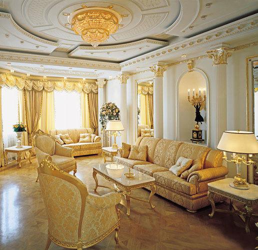 Золотистая мебель