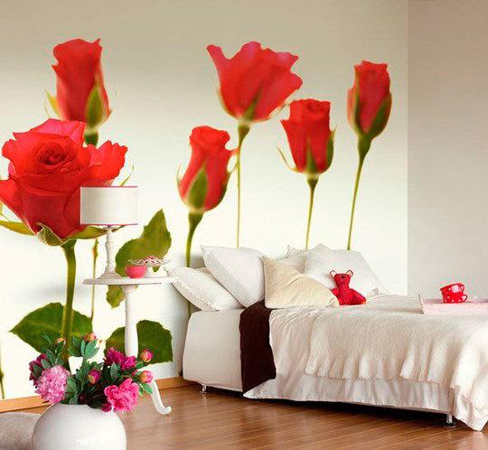 фотообои для спальни цветы станут прекрасным украшением вашей