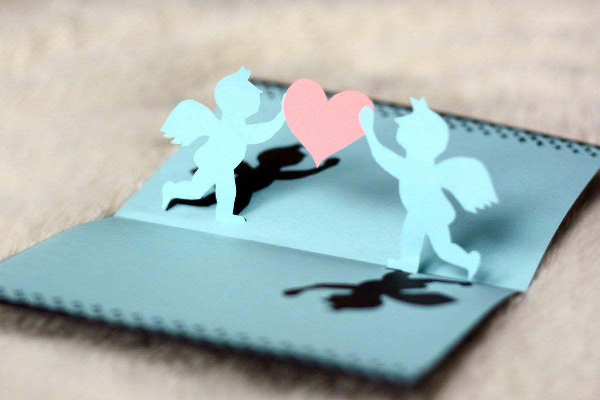 Цветочки, как сделать открытки на день влюбленных своими руками