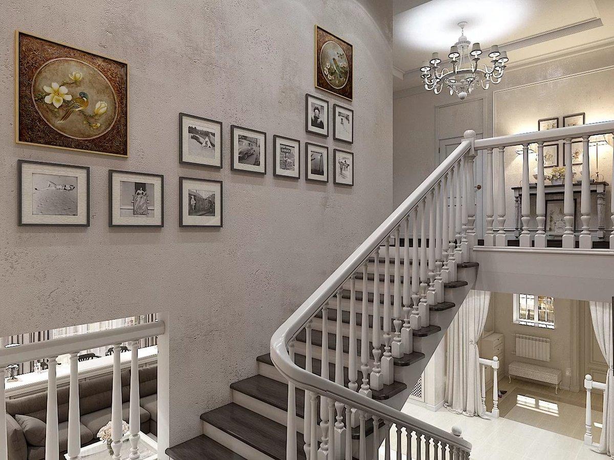 обои над лестницей фото внешней стороны