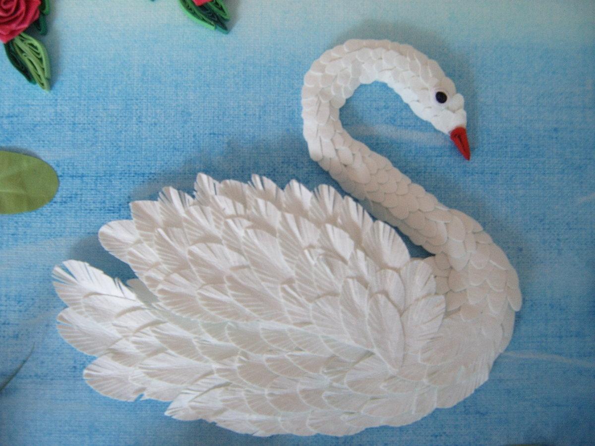 Открытки как сделать лебеди