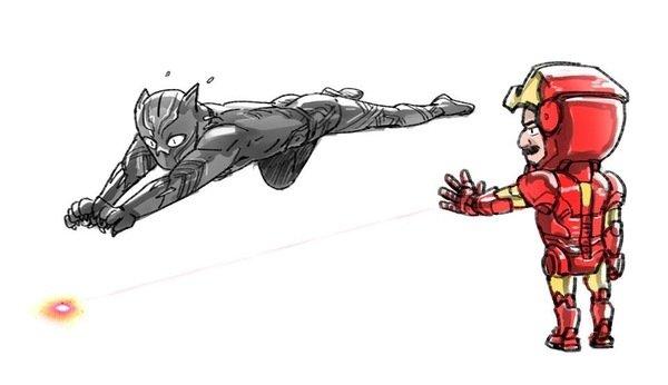 Как Старк убедил Чёрную Пантеру присоединиться к своей команде