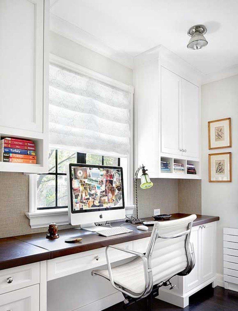 Белый домашний кабинет