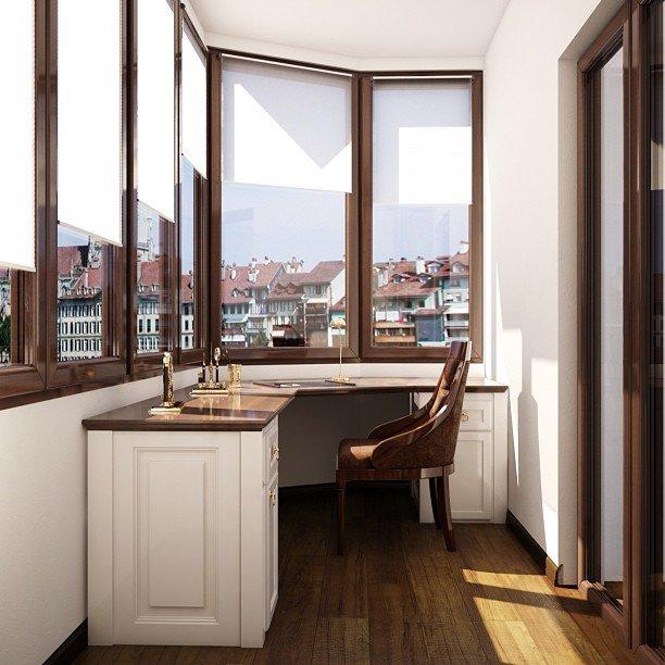 Офисная мебель на балконе фото. - ставим окна сами - каталог.