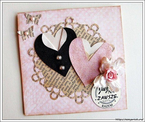 Делаем открытки к свадьбе своими руками