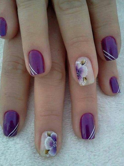 Орхидеи на ногтях шеллаком фото пошагово сестры