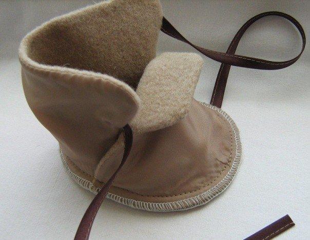 Ботинки ребенку своими руками