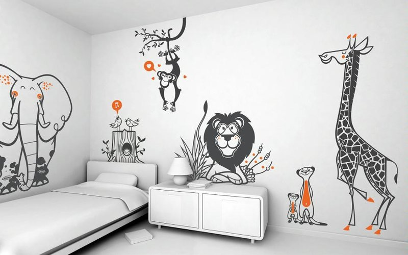 Животное своими руками стены