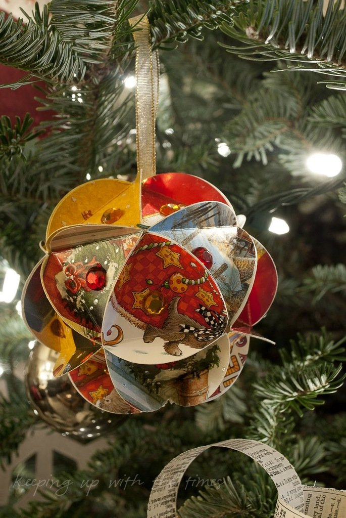 Бухгалтерия, шар из открыток новогодняя
