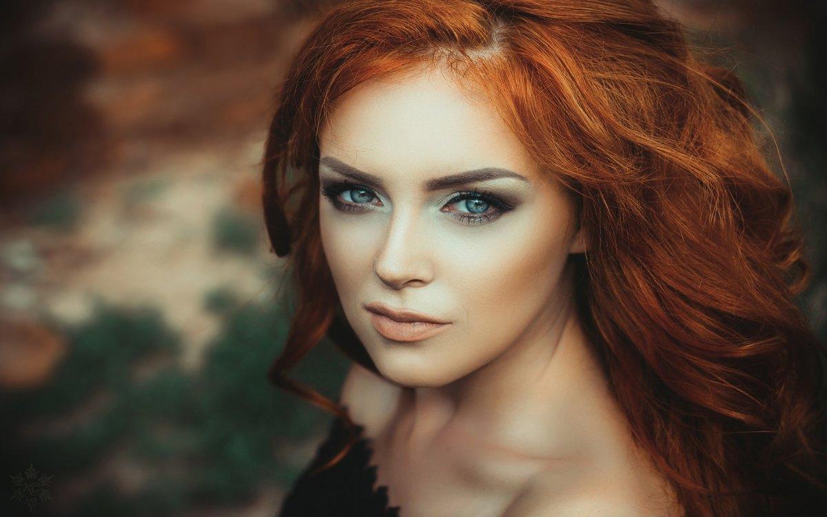 фотографии рыжих девушек с зелеными глазами - 10