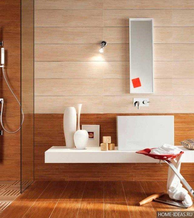 Плитка для большой и маленькой ванной комнаты: виды, фото, дизайн.