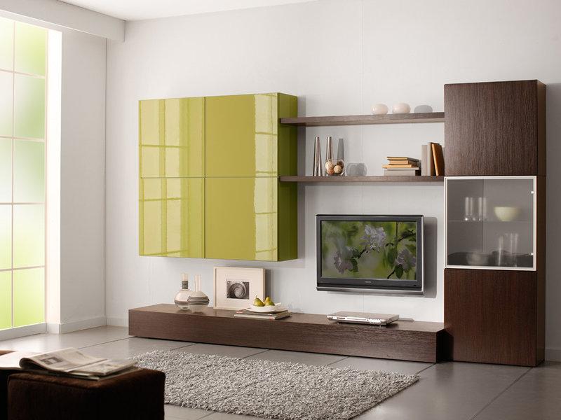 Мебель для гостиной-столовой цвет глянец салатовый фото цена