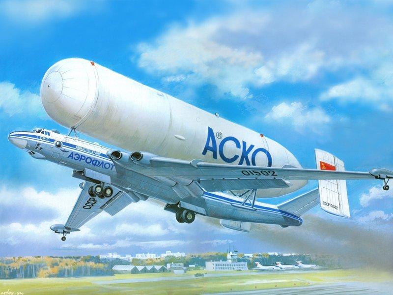 Транспортный самолёт ВМ-Т «Атлант» ЭМЗ Мясищева