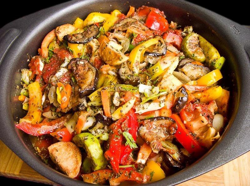 Аджапсандал с мясом рецепт с фото пошагово