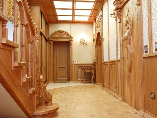 дизайн прихожей на стены фото в частном доме