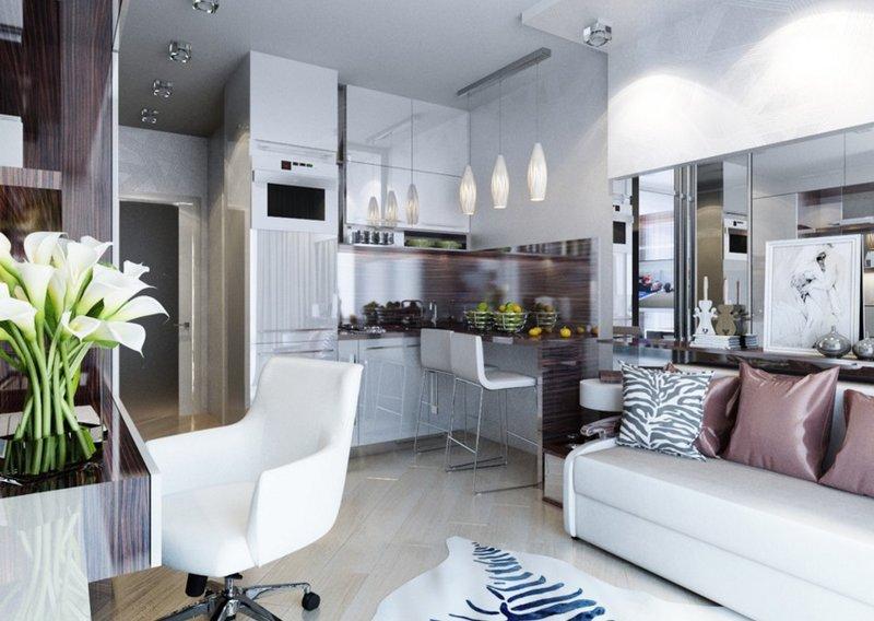 Дизайн квартиры студии 20 кв. м.