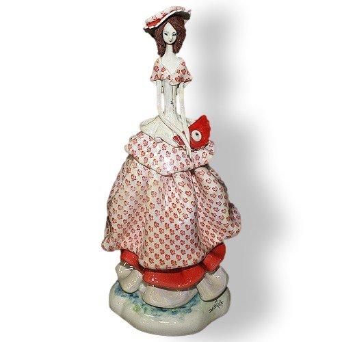 Статуэтка из фарфора Леди с сумочкой, Дамы.