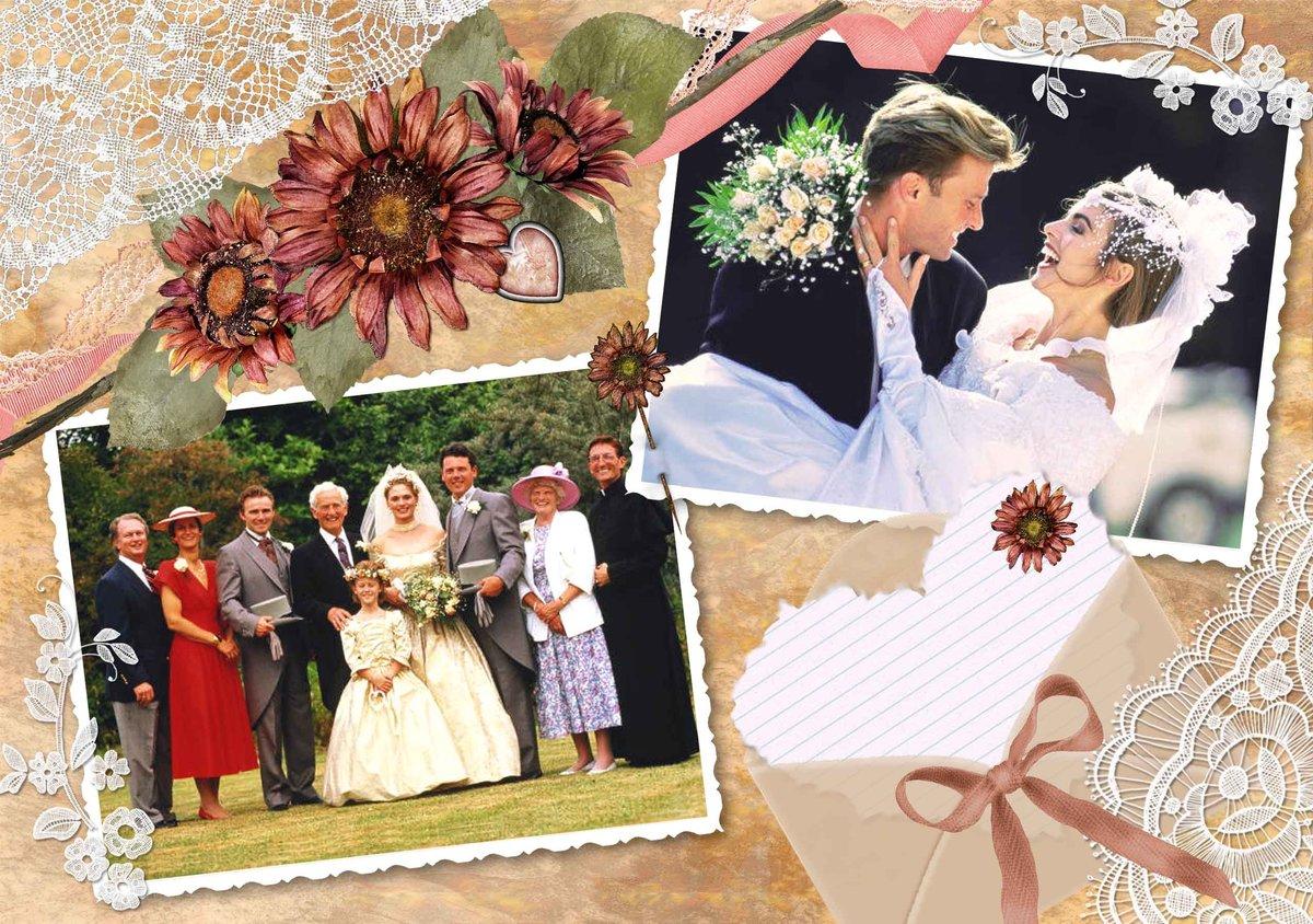 Создать из фото открытка на свадьбу