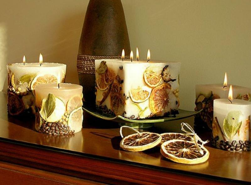 Свечи декоративные своими руками