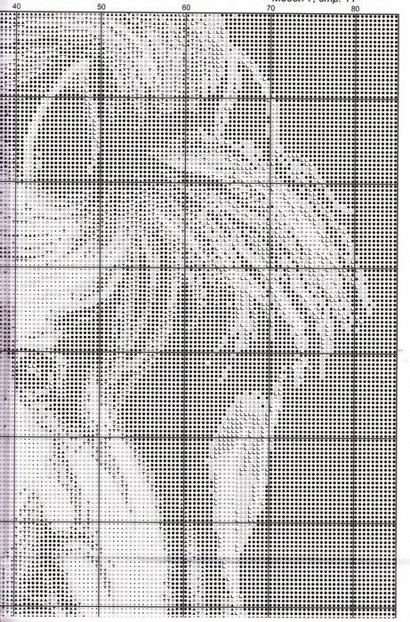 черно лошадь белые схемы крестом вышивки