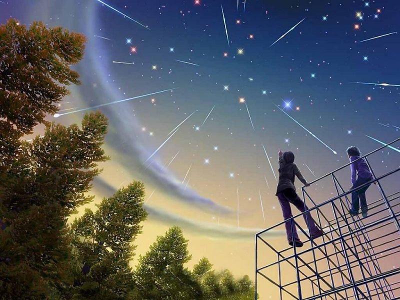 Красивые открытки звездопад