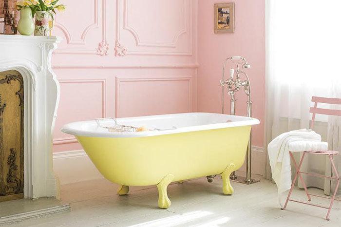 Оригинальное сочетание цветов для ванной в стиле прованс