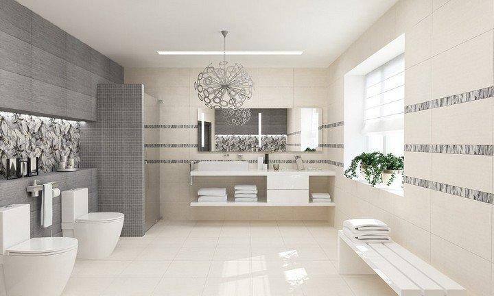 фото светлая ванная комната